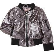 Urban Republic Little Girls Metallic Foil Bomber Jacket