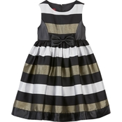 Princess Faith Little Girls Stripe Dress