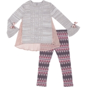Little Lass Toddler Girls 2 pc. Two Tone Sweater Set