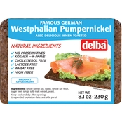 Delba Dark Westphalian Pumpernickel Loaf 8 pk.