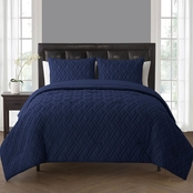 VCNY Lattice Embossed 7 pc. King Bed in a Bag Comforter Set