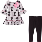 Youngland Infant Girls 2 Pc. Dress and Leggings Set