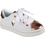 Skechers Girls Medal Toe Oversize Lace Sneakers