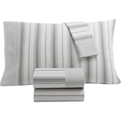 Martha Stewart Collection Printed 100% Cotton Flannel Sheet Set