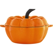 Martha Stewart Collection Enameled Cast Iron 2 Qt. Pumpkin Casserole