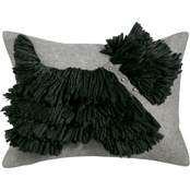 Martha Stewart Collection Stand Out Scottie Decorative Pillow 14 x 18 in.
