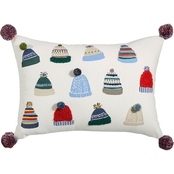 Martha Stewart Collection Fuzzy Hats Decorative Pillow 14 x 20 in.