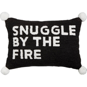 Martha Stewart Collection Snuggle By The Fire Decorative Pillow 14 x 20 in.