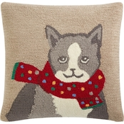 Martha Stewart Collection Warm Kitten 18 in. Square Decorative Pillow