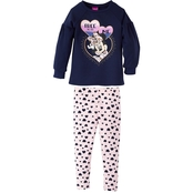 Disney Little Girls Minnie Mouse 2 pc. Leggings Set