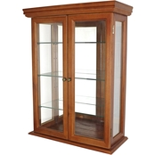 Design Toscano Country Tuscan Hardwood Wall Curio Cabinet