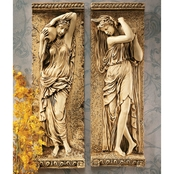 Design Toscano Water Maidens Wall Frieze 2 pc. Set