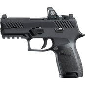 Sig Sauer P320 9mm 3.9 in. Barrel 15 Rnd Pistol Black with Romeo1