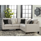 Signature Design by Ashley Hallenberg 2 pc. Sectional LAF Sofa/RAF Loveseat/Wedge