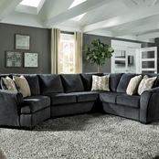 Signature Design by Ashley Eltmann 3 pc. Sectional LAF Cuddler/Loveseat/RAF Sofa