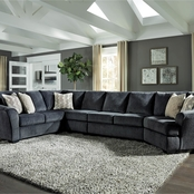 Signature Design by Ashley Eltmann 4 pc. Sectional RAF Cuddler/Loveseat/Sofa/Chair