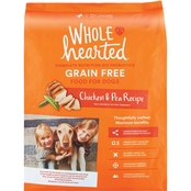 WholeHearted Grain Free All Life Stages Chicken and Pea Dry Dog Food, 25 lb.