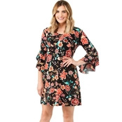 Robbie Bee Floral Fit and Flare Dress