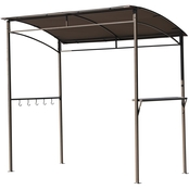CasualWay Arawak 7 ft. x 4 ft. 4 in. Curved Roof Grill Gazebo