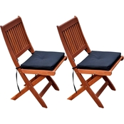 CorLiving Miramar Hardwood Outdoor Folding Chairs 2 pk.