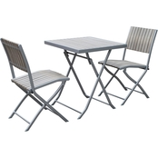CorLiving Gallant 3 pc. Outdoor Folding Bistro Set