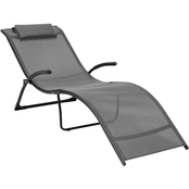 CorLiving Riverside Folding Reclined Patio Lounger