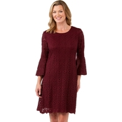 Ronni Nicole Bell Sleeve Stretch Lace Dress
