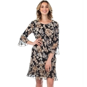 Connected Ruffled Print Dress