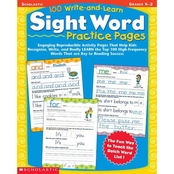 100 Write-and-Learn Sight Word Practice Pages: Grade K-2