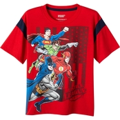 DC Comics Little Boys Home of the Brave Justice League Tee