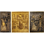 Design Toscano Egyptian Temple Stele Plaque, Tutankhamen, Isis and Horus