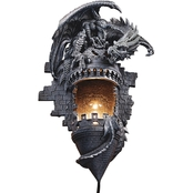 Design Toscano Dragon's Castle Lair Illuminated Wall Sconce