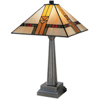 Dale Tiffany Edmund Mission Style Table Lamp