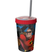 Zak Disney Pixar Incredibles 2 Mr. Incredible Embossed Top Tumbler with Straw