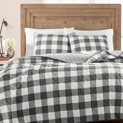 Martha Stewart Collection Box Plaid Reversible Yarn Dyed Quilt