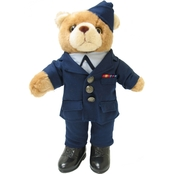 Bear Forces of America 11 in. Plush Bear in Air Force OFF SVC DR Uniform Female