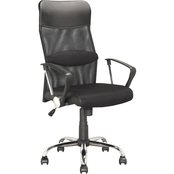 CorLiving Executive Office Chair in Black Leatherette and Mesh
