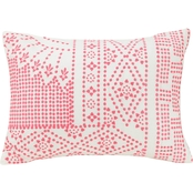 Vera Bradley Coral Floral Decorative Pillow (Dotty) #5a 14 x 20 in.