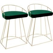 LumiSource Canary Counter Stool Set of 2