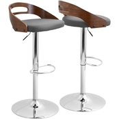 LumiSource Cassis Adjustable Barstool