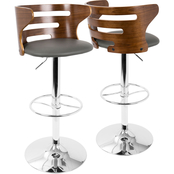 LumiSource Cosi Mid Century Modern Adjustable Barstool with Swivel