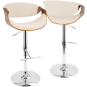 LumiSource Curvo Adjustable Stool