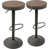 LumiSource Dakota Adjustable Barstool 2 Pk.