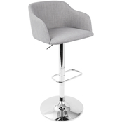 LumiSource Daniella Contemporary Adjustable Barstool with Swivel