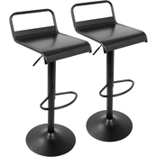LumiSource Emory Adjustable Bar Stool 2 pk.