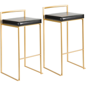 LumiSource Fuji Contemporary Glam Barstool 2 pk.