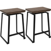 LumiSource Geo Counter Stool 2 pk.