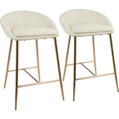 LumiSource Matisse Counter Stool Set of 2