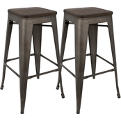 LumiSource Oregon Barstool 2 pk.