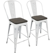 LumiSource Oregon High Back Counter Stool 2 pk.